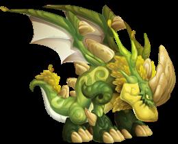 imagen del dragon cuerno largo de dragon city
