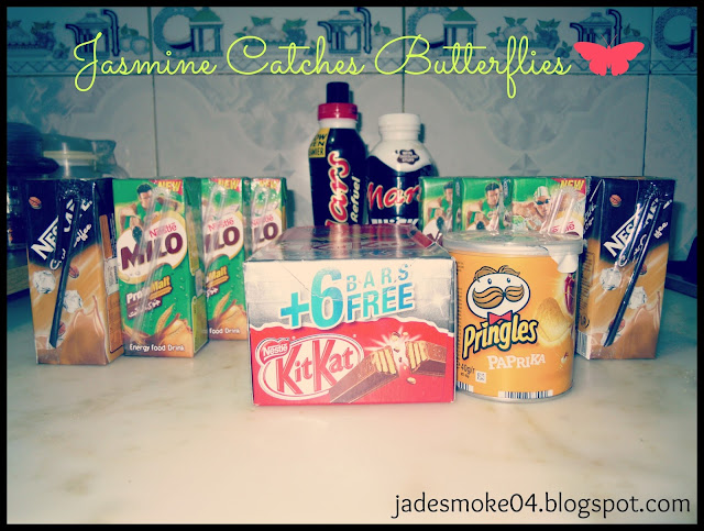 mars milo cold coffee kitkat pringles