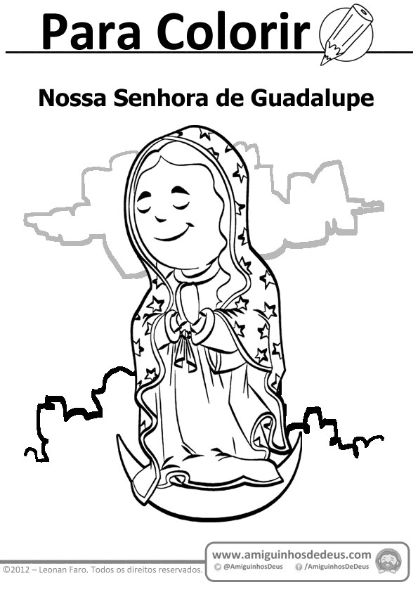 Nossa Senhora de Guadalupe para colorir