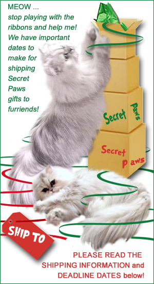WHAT YOU NEED TO KNOW ABOUT SHIPPING YOUR SECRET PAWS HOLIDAY GIFTS