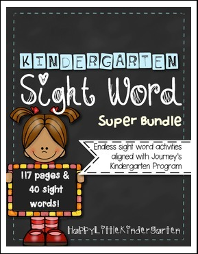 https://www.teacherspayteachers.com/Product/Kindergarten-Sight-Word-Work-Journeys-Edition-1629533