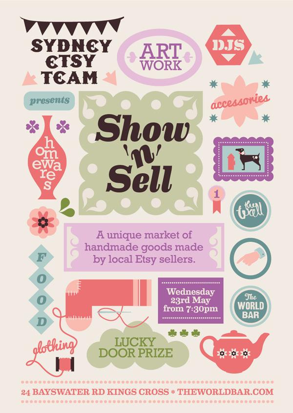 Handmade Market, Show & Sell, Sydney, Etsy, vintage