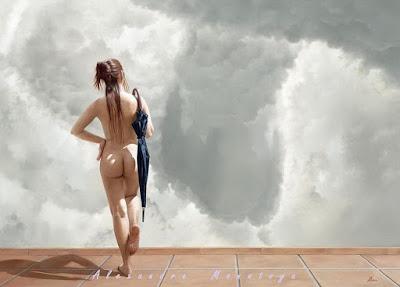 Cuadro De Mujer Desnuda De Espalda