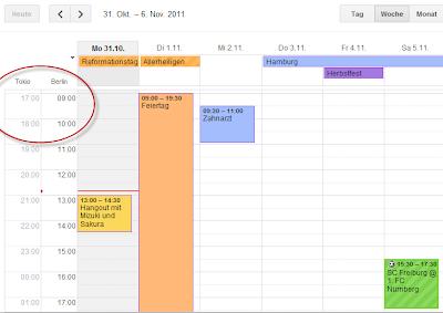 Zusätzliche Zeitzonen im Google Kalender einrichten