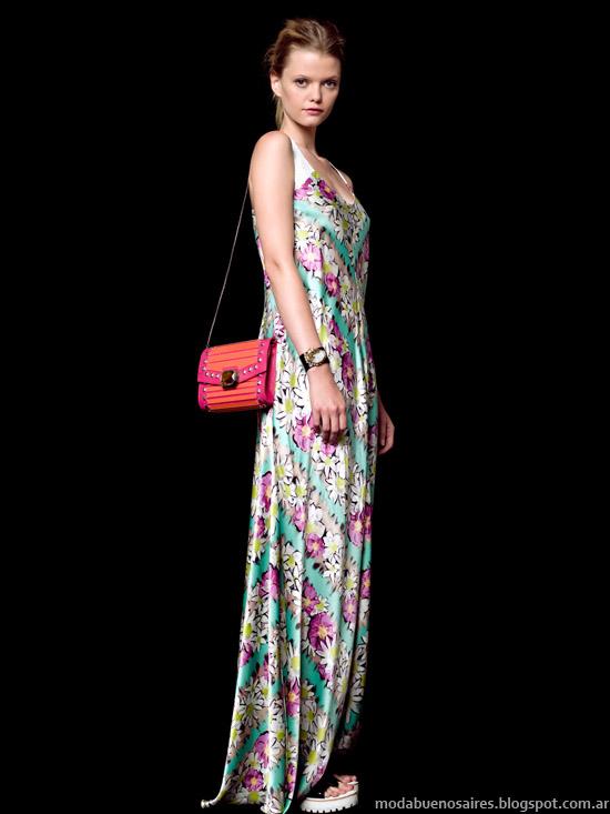 Jazmín Chebar primavera verano 2014 vestidos.