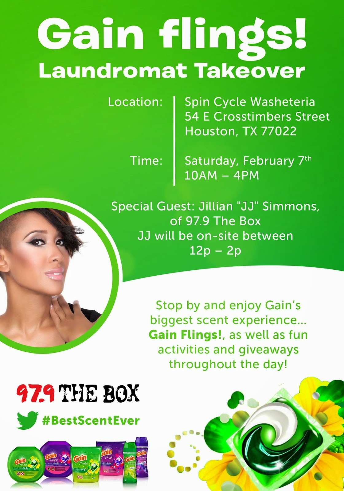 GAIN FLINGS LAUNDROMAT TAKEOVER- See you there!