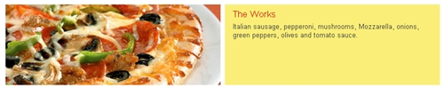 California Pizza Kitchen (CPK) The Works pizza