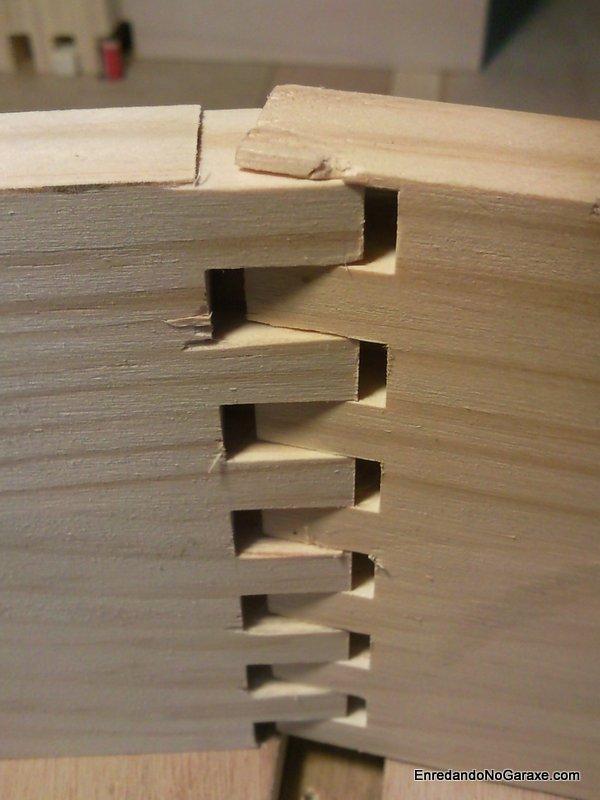Detalle de uniones tipo lazo para cajas, enredandonogaraxe.com