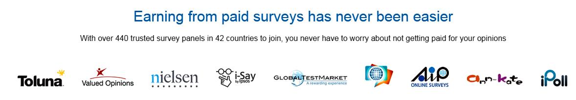 Different survey panels