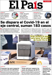 06/04/2020   BOLIVIA   UNA  PRIMERA PÁGINA DE LA PRENSA