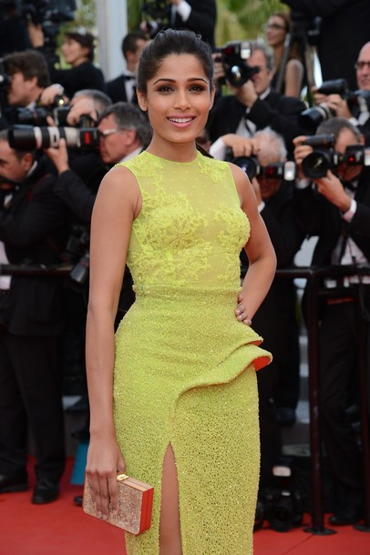 Freida Pinto Photoshoot at Cannes Film Festival