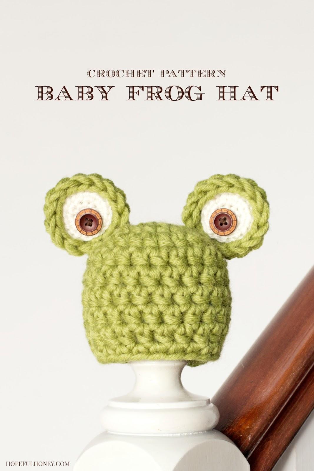 Free Crochet Pattern Newborn Frog Hat : Hopeful Honey Craft, Crochet, Create: Newborn Frog Hat ...