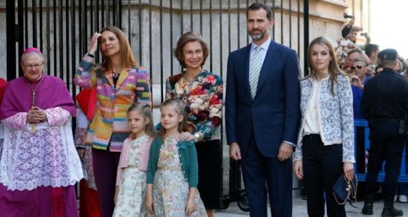SPAİN ROYAL FAMİLY ATTEND EASTER MASS İN PALMA DE MALLORCA