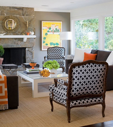 Benches In Front Of Fireplace House Interior Design