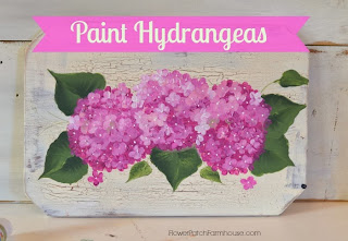 http://www.flowerpatchfarmhouse.com/learn-to-paint-hydrangeas-the-fast-and-easy-way/