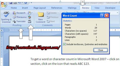 Tips Knowing the number of words and characters in Microsoft Word