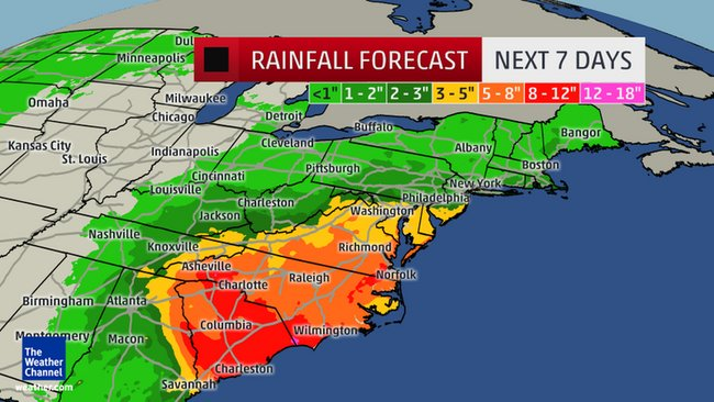 Weather Channel Rainfall Forecast
