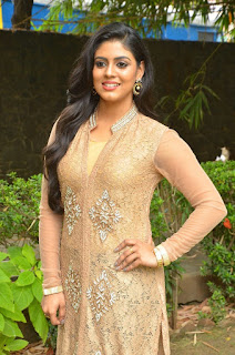 Actress Iniya Stills in Salwar Kameez at Pottu Movie Launch  0007