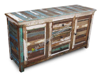 Solid Wood Reclaimed Indian Large Sideboard