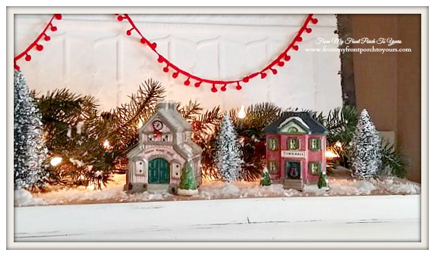 Small Christmas Village Buildings-Christmas Village Vignettes- From My Front Porch To Yours