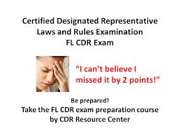 Florida Certified Designated Representative - CDR Exam Prep Course