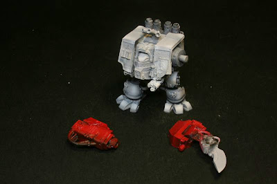Capas de Gris Claro y Fire Red en el Dreadnought