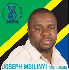 MH. JOSEPH MBILINYI - MBUNGE WA MBEYA MJINI