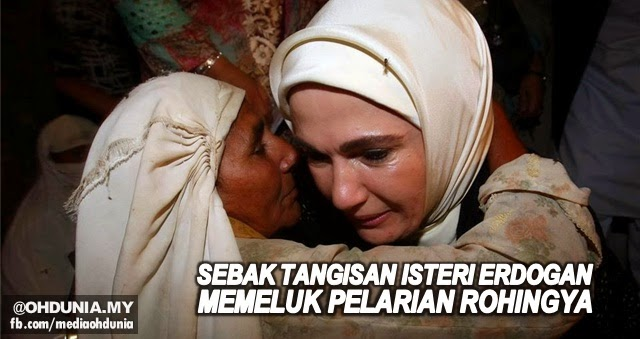 Sebak, sayu tangisan isteri Erdogan ketika memeluk pelarian Rohingya