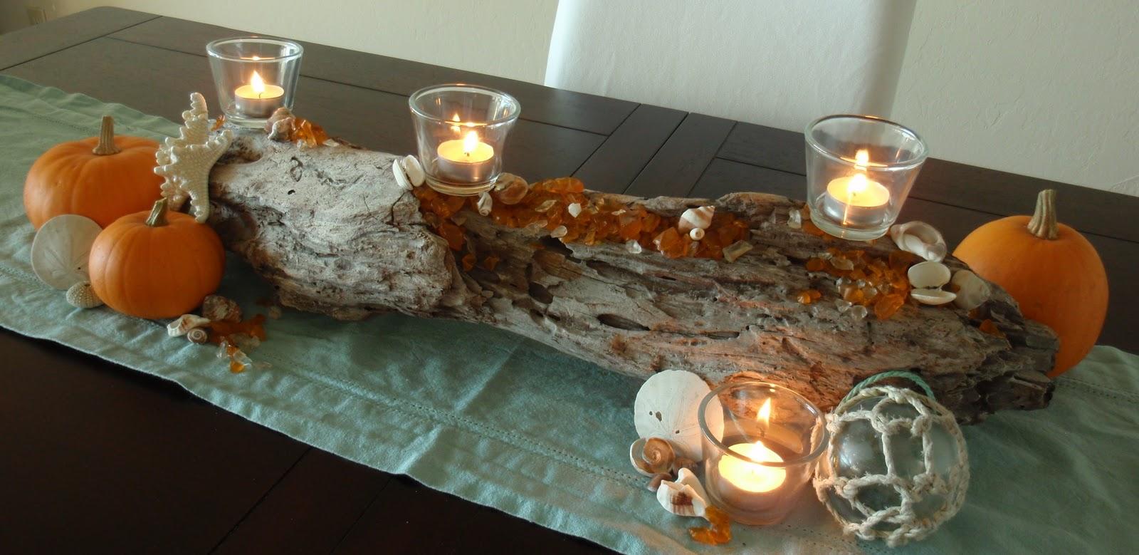 Everything coastal an autumn driftwood centerpiece for Driftwood centerpiece