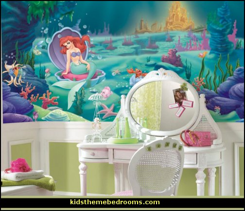 Little Mermaid Ariel Theme Bedroom Mermaid Decor Disney The Little Mermaid Decor Mermaid