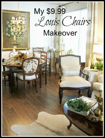 My $9.99 Louis Chairs Upholstery Tutorial