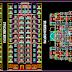 مشروع عمارة سكنية متعددة الطوابق (R+12+ss) اتوكاد dwg