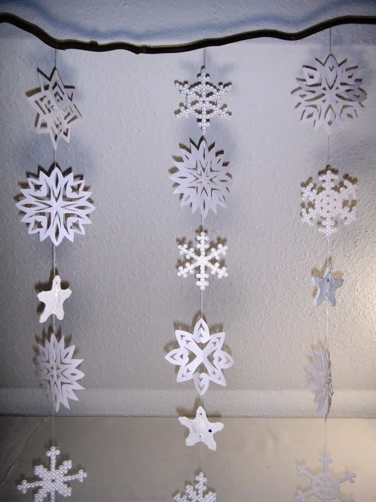 Ines felix kreatives zum nachmachen schneeflocken fenster dekoration - Basteln winter fenster ...
