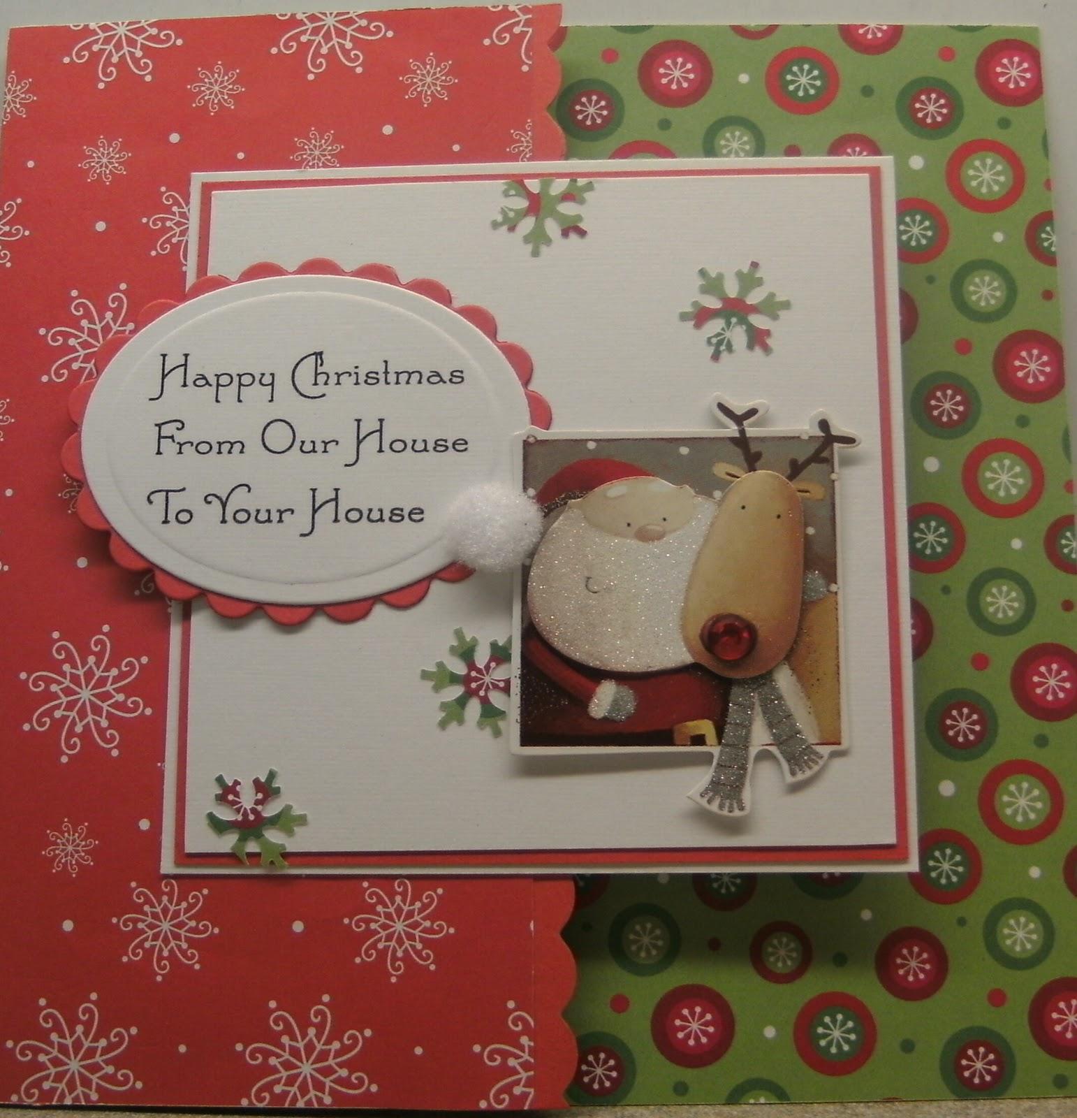 Ideas de tarjetas de navidad hechas a mano lindos - Ideas para postales de navidad ...