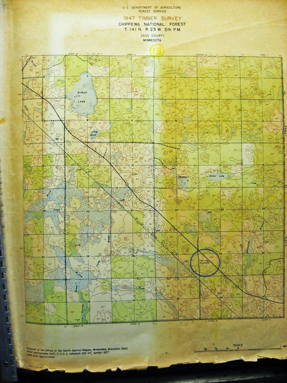1947 timber survey map usfs