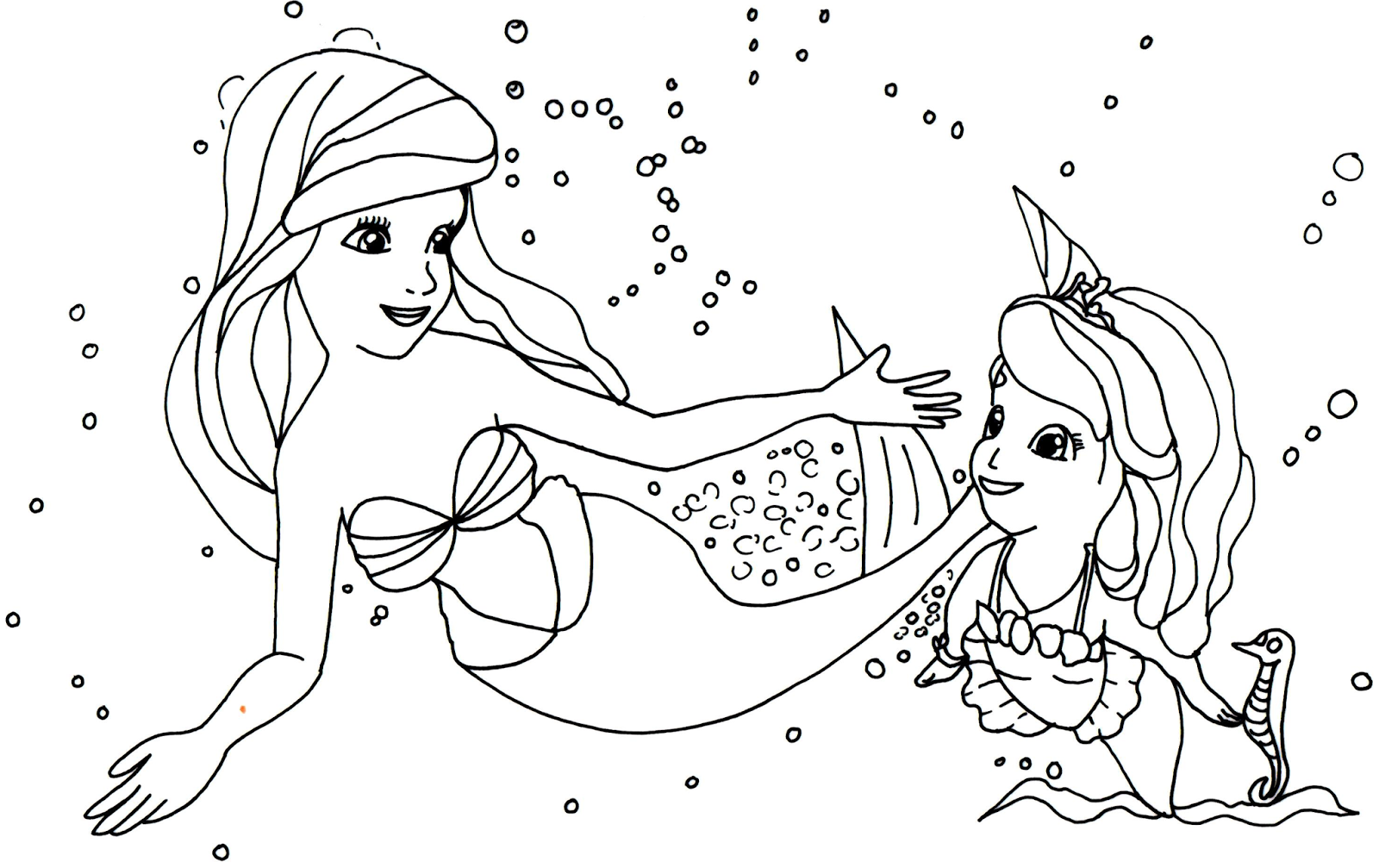 Sofia The First Coloring Pages: Princess Ariel and Sofia the First ...