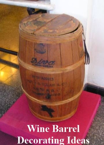 Decorating Ideas for a Vintage Wine Barrel