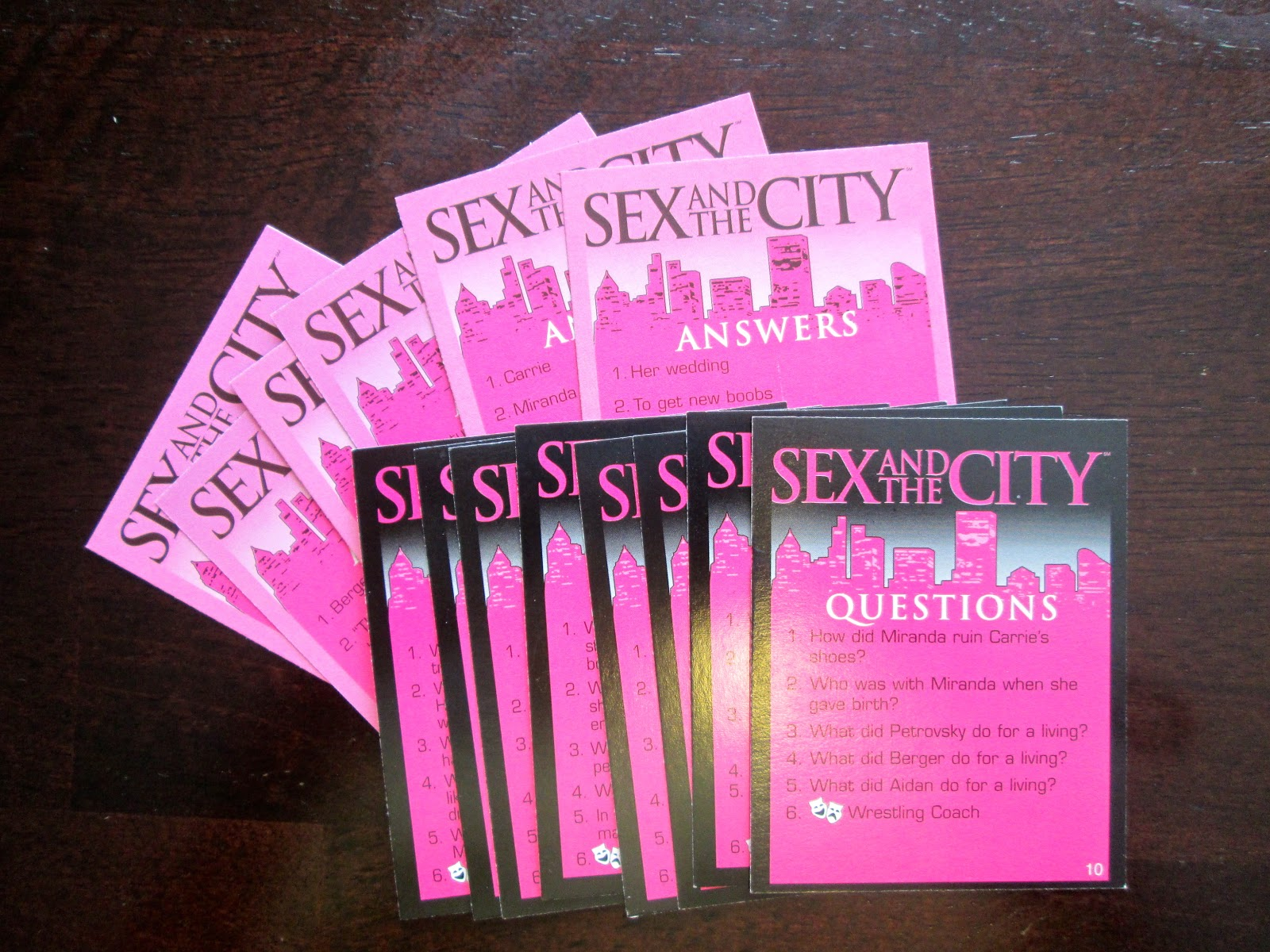 Sex and the city card