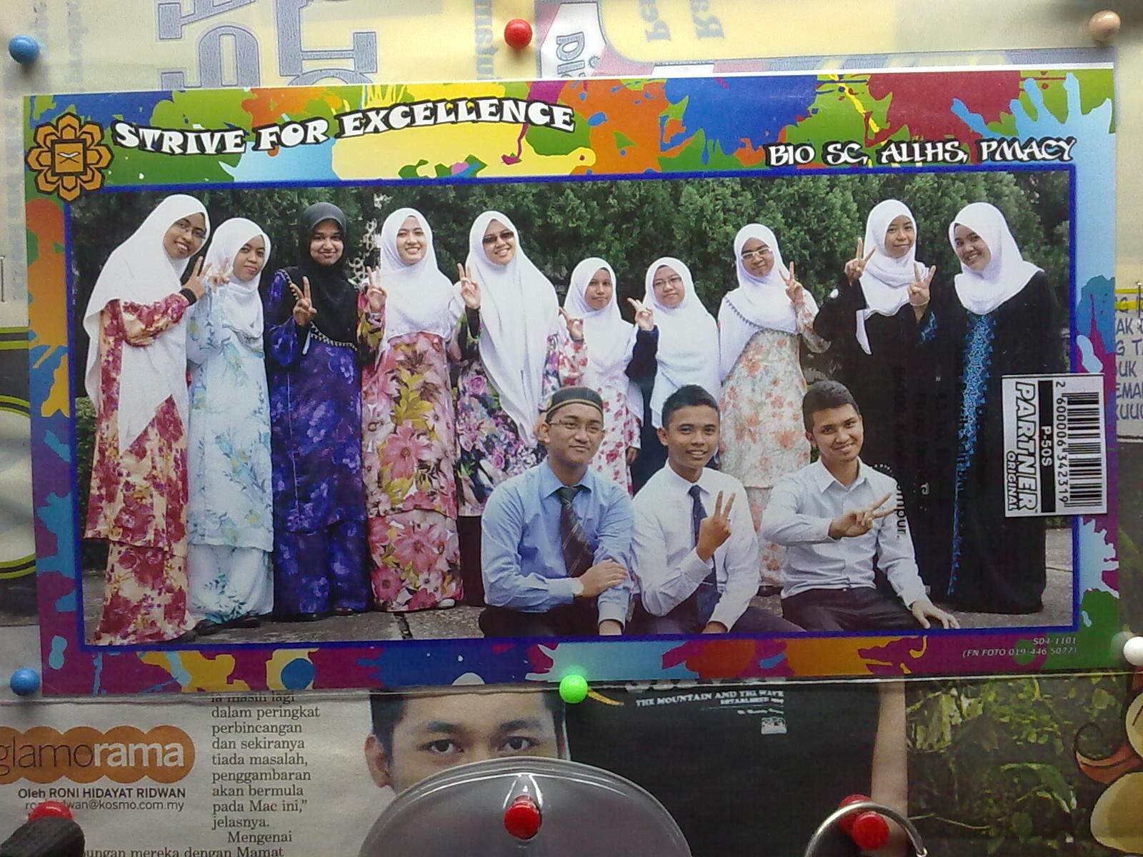 Haa, ni gambar classmate Bio sem ni (sem 3, 2011/12)