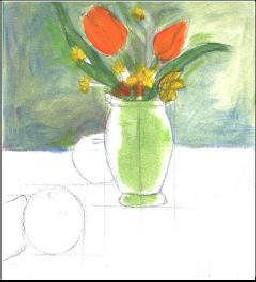 guaj boya desen çalışmaları