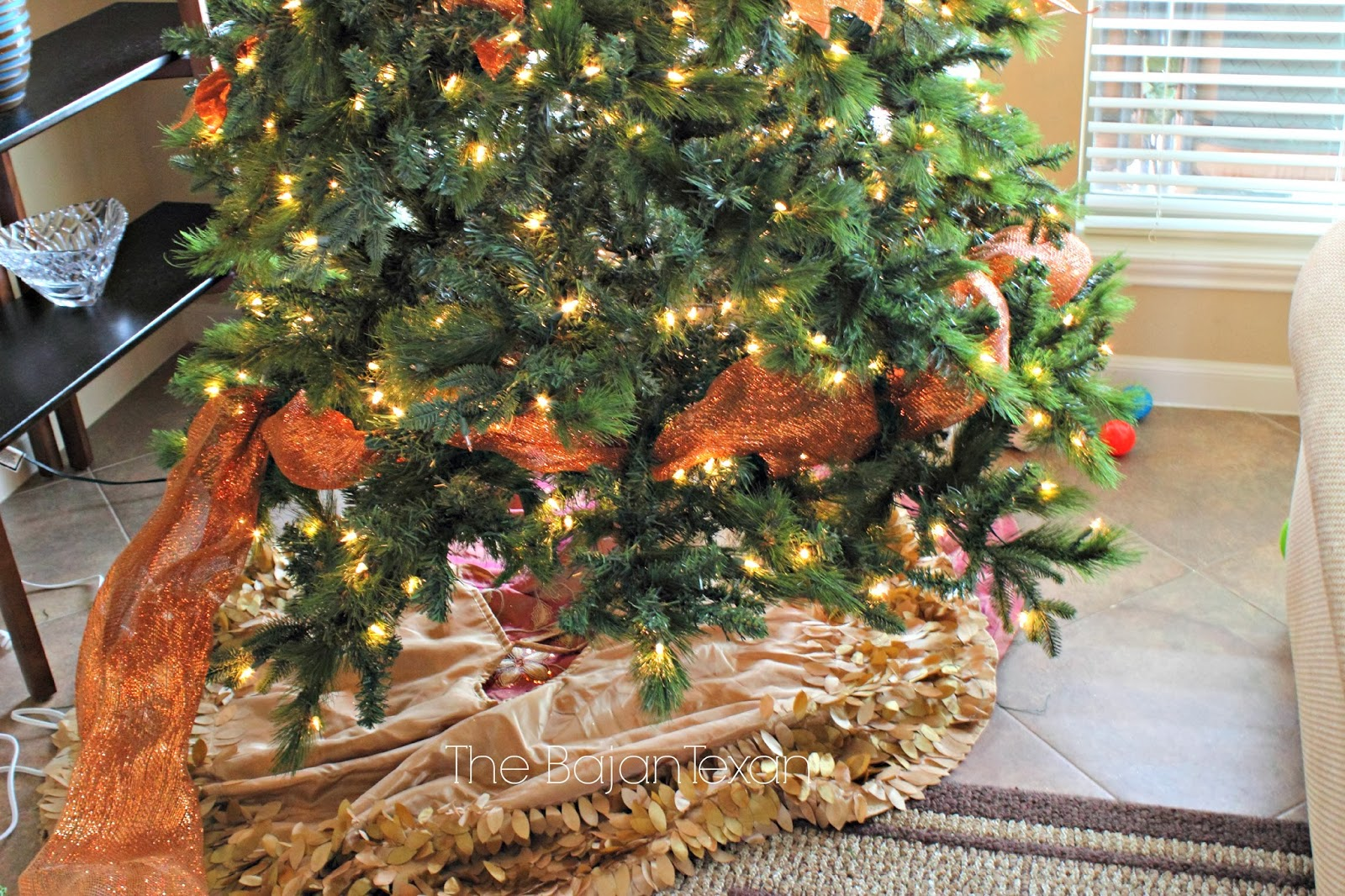 Copper And Gold Christmas Tree