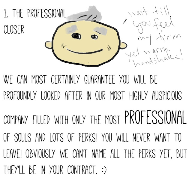 The Seven Faces of Your Boss - comic and drawing by Amy MacLeod