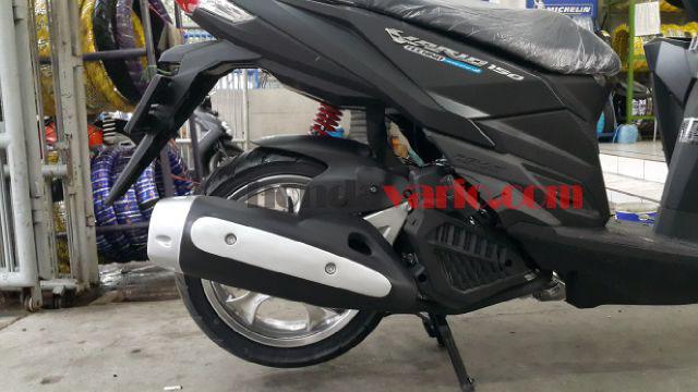 Aksesoris Motor Honda Vario 150 eSP - Cover Knalpot terpasang