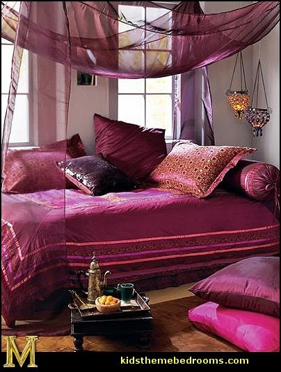 Purple Moroccan Bedroom