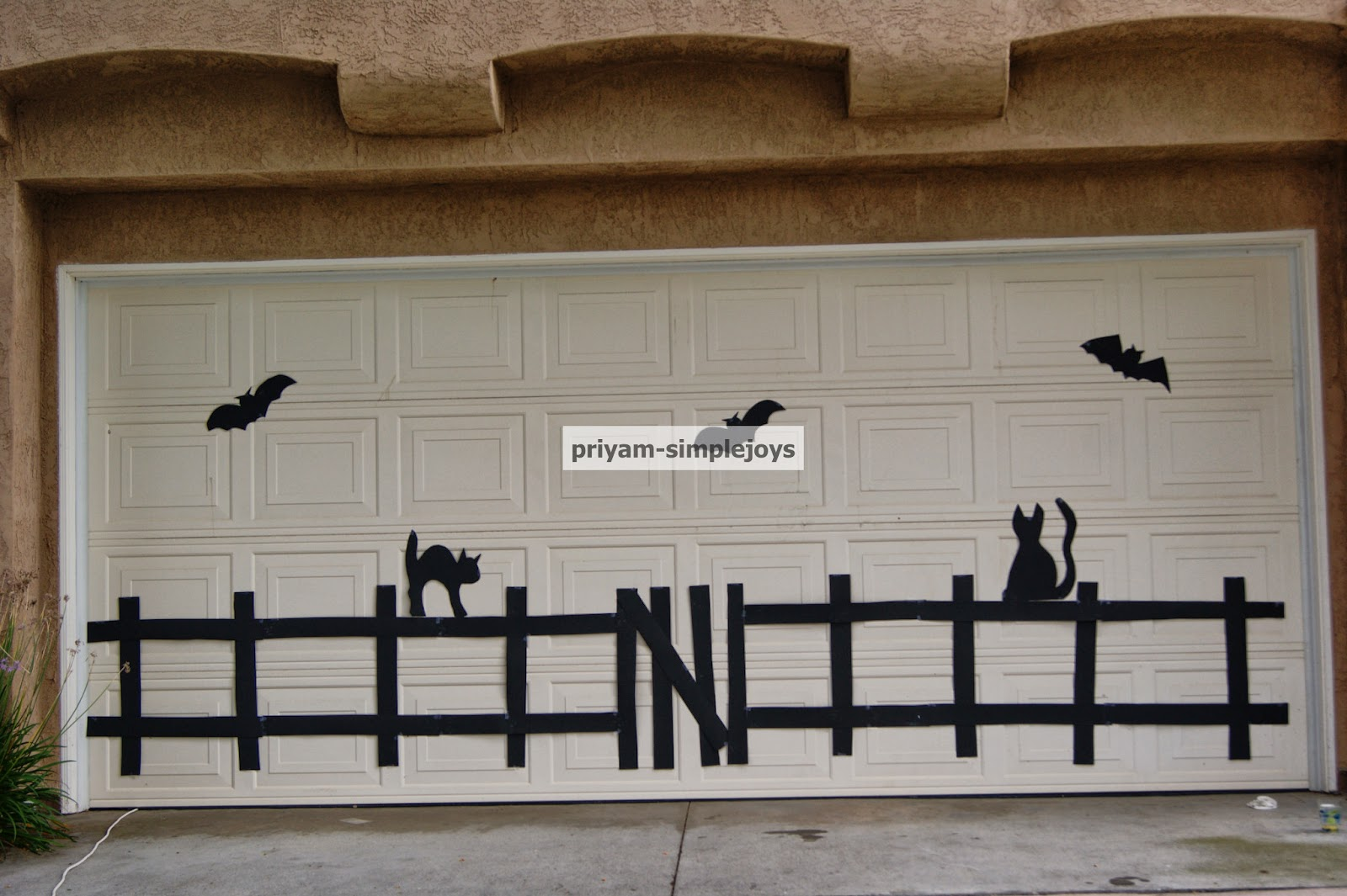 Simplejoys Halloween Garage Door