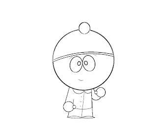 #4 Stan Marsh Coloring Page