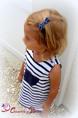 barrette anti-glisse noeud princesse