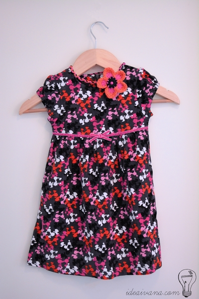 crochet flower headband dress