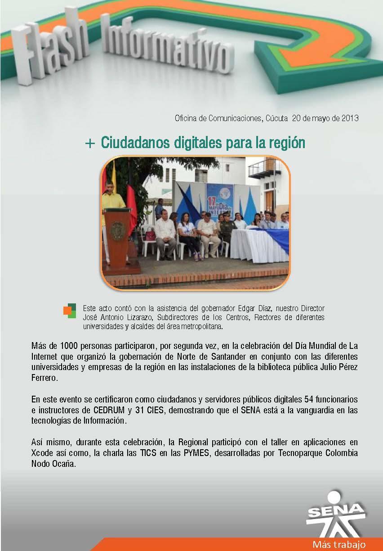 Regional norte de santander ciudadanos digitales para for Oficina de correos santander