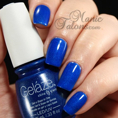 Gelaze Frostbite Swatch, Gelaze Gel Polish, Gel Polish, Soak Off Gel, Blue Gel Polish